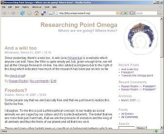Omega Research Weblog