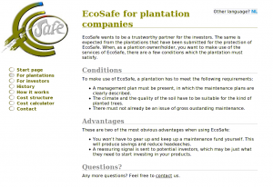 EcoSafe page for plantations