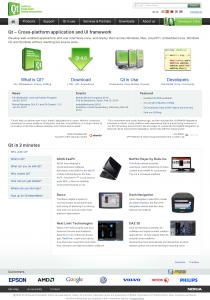 Qt homepage