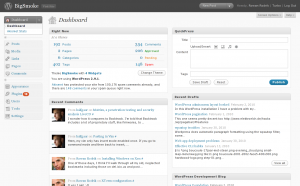 WordPress dashboard with menu CSS fixed