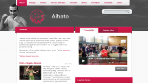 www.aihato.nl – Front page – top portion