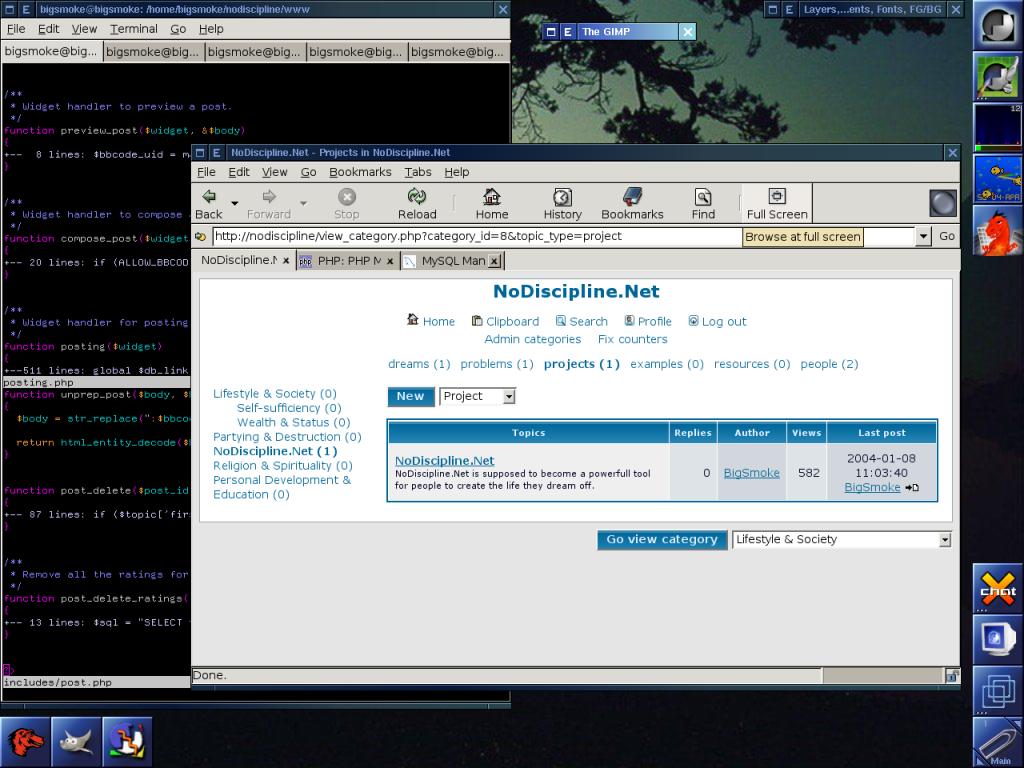 Window Maker Workspace (2004)